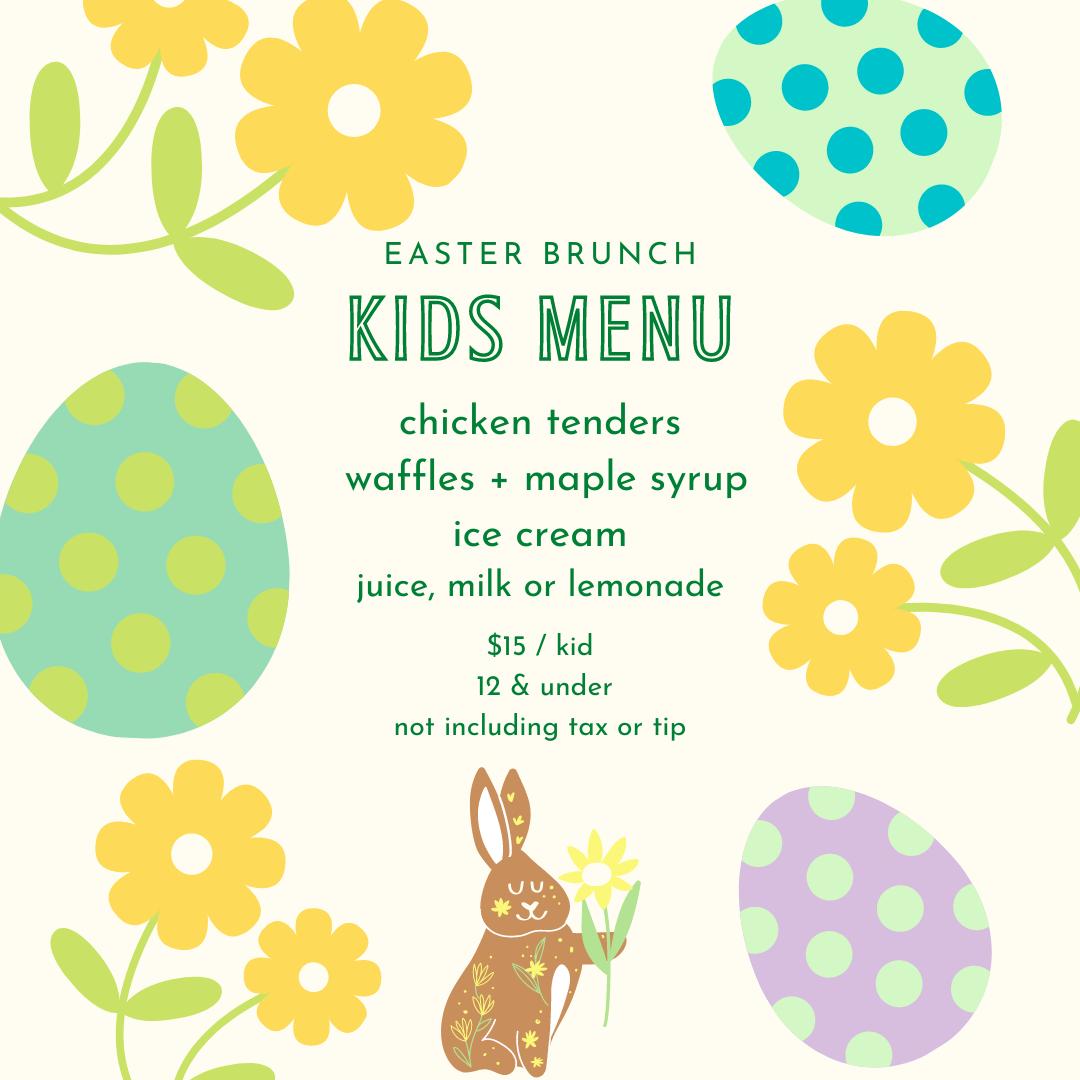 Kids Easter Menu